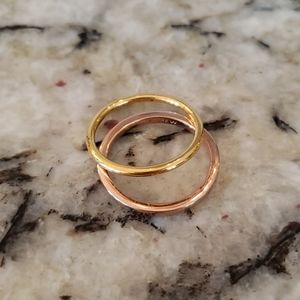 J Crew 14k gold plated Ring set K6528